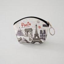 Parisのお土産 PVC素材 ポーチ S (C)