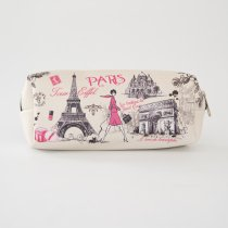 Parisのお土産 PVC素材 横長ポーチ (A)