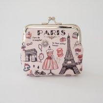 Parisのお土産 PVC素材 コインケース ピンク