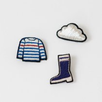 MACON&LESQUOY rubberboot+striped long sleaved+cloud