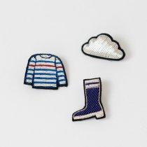MACON&LESQUOY ラバーブーツ+ボーダーTシャツ+雲