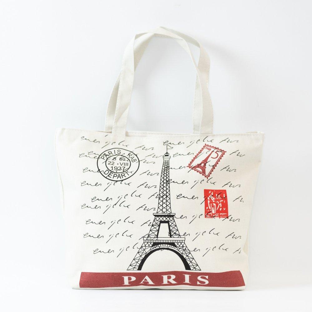 Parisのお土産 コットントートバッグ B