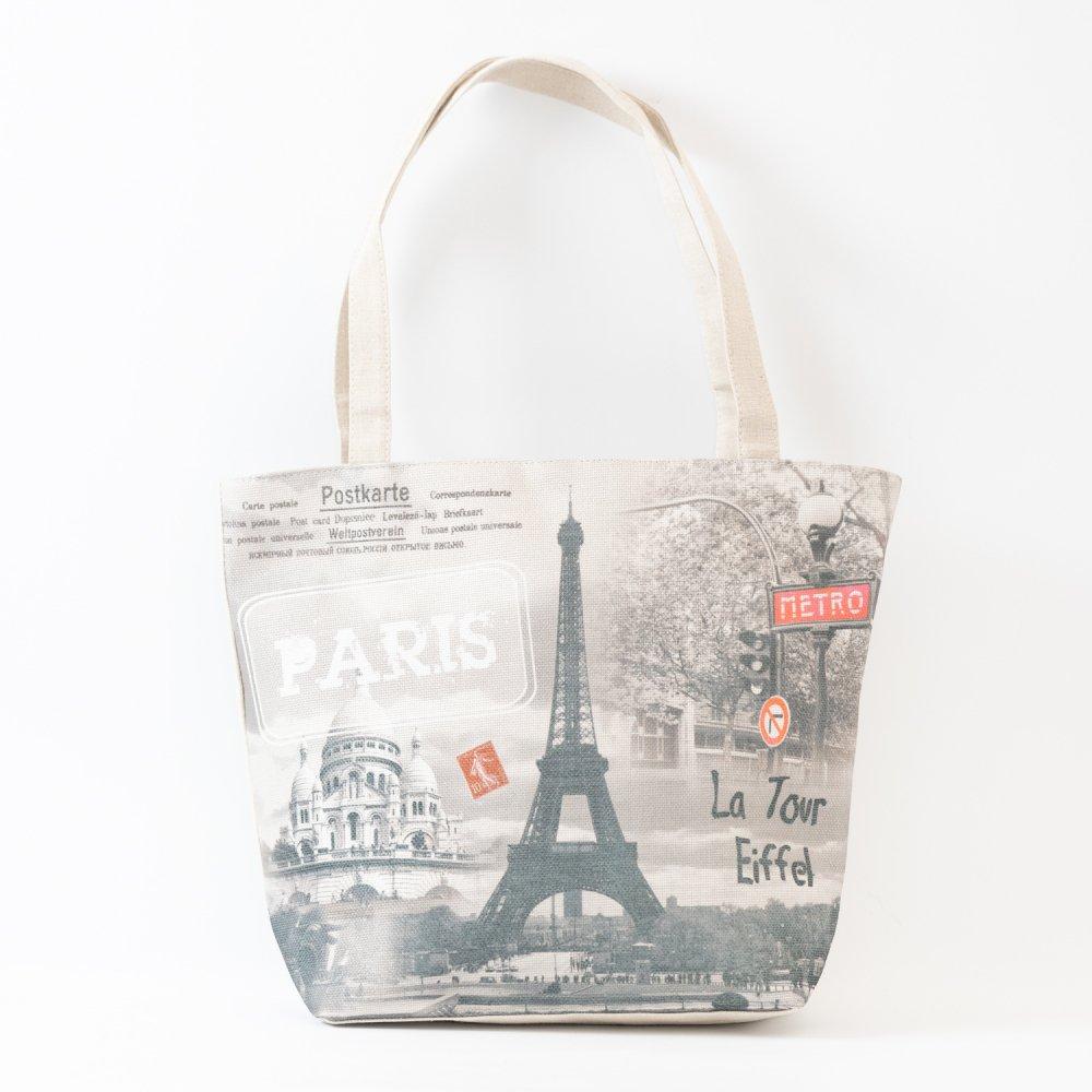Parisのお土産 コットントートバッグ D