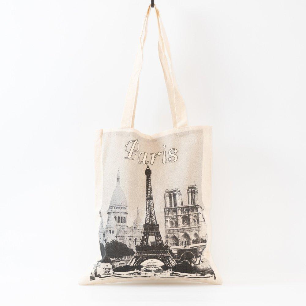 Parisのお土産 コットンエコバッグ A