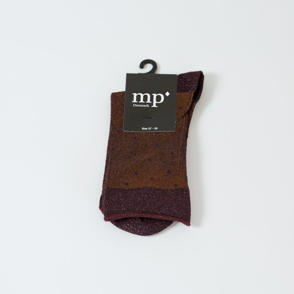 mp'Denmark メタリックソックス 79590 ブラウン×ボルドー