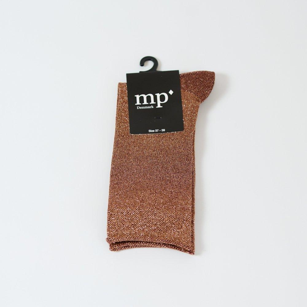 mp'Denmark メタリックソックス 79593 テラコッタ
