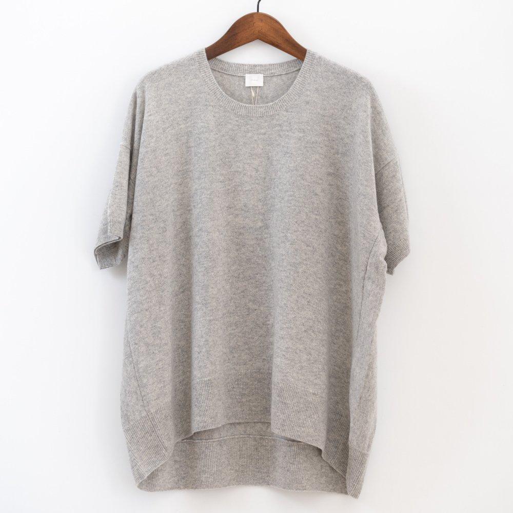【SALE50%OFF】C.T.plage  カシミヤ100%半袖セーター LGY