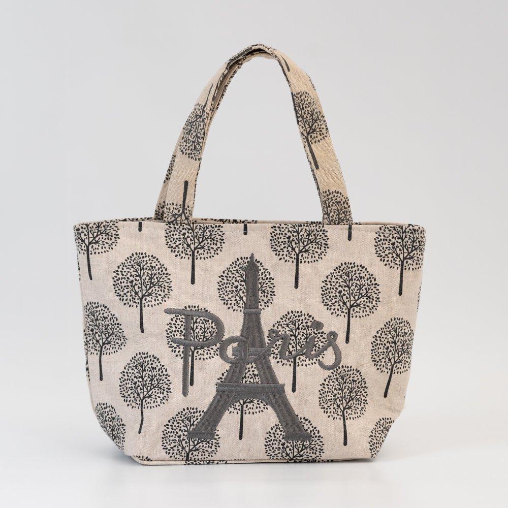 Parisのお土産 キャンバストートバッグ(S)ツリー ナチュラル