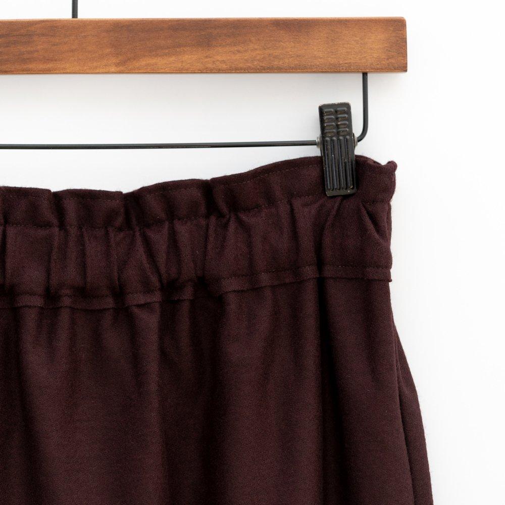【SALE40%OFF】assiette ラウンドポケットのウールスカート BOR