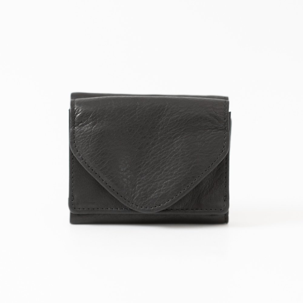 les basiques 三つ折り財布 BLACK