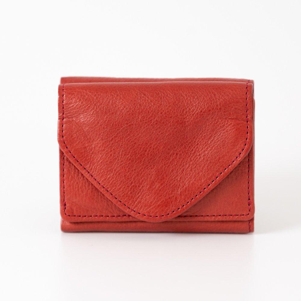 les basiques 三つ折り財布 RED