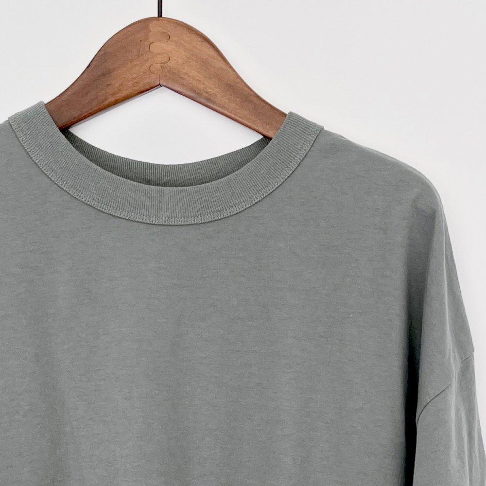 【SALE30%OFF】TRAVAIL MANUEL シャビー天竺 プリントTシャツ SAGE