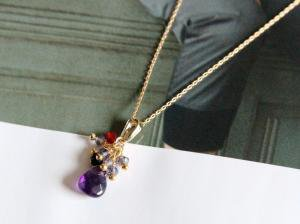 Purple necklace(14KGF)
