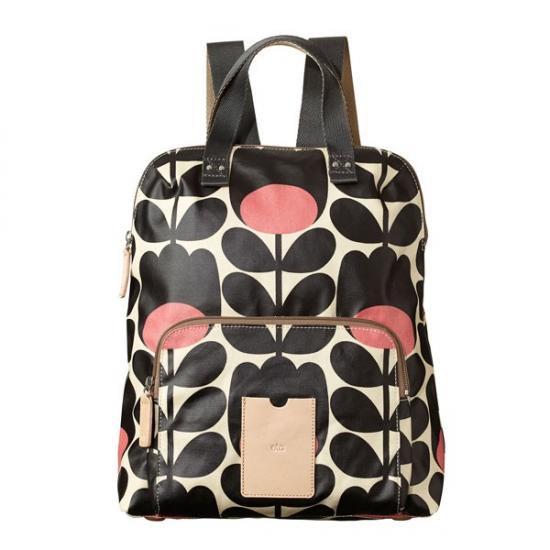 お取り寄せ!2014新作/Orla Kiely【オーラカイリー】Tulip Stem Print Backpack (Jet)