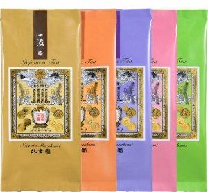 七彩の詩詰合せ (一汲・初摘・舞鶴・特上九重・あさひの茶)  (袋詰・箱)