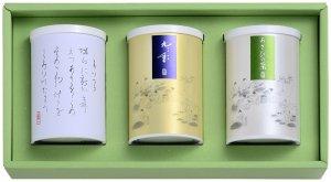 九重園の銘茶詰合せ (舞鶴・特上九重・あさひの茶)  (紙缶・箱)