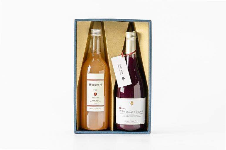 いわての林檎と葡萄のジュース2本セット