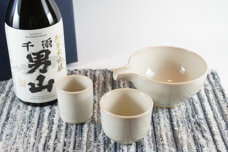 地酒と酒器【小久慈焼】のオリジナルギフトセット