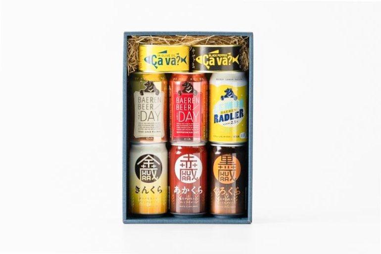 ビール&つまみのカラフル缶ギフト