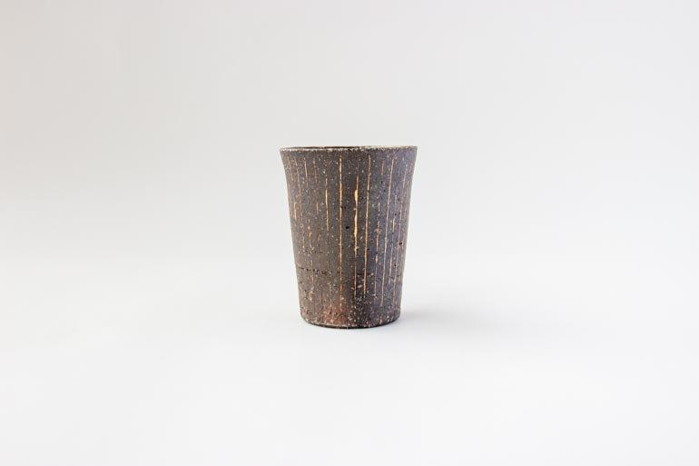 炭化線刻 フリーカップ