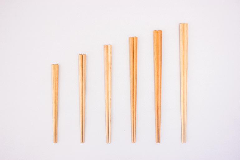 プラム工芸の五角箸
