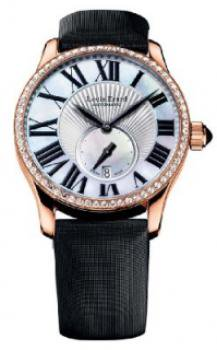 Louis Erard Women's 92602OS01.BAS91 Emotion Automatic Rose Gold Black Satin Diamond Watch