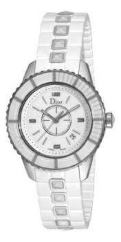 Christian Dior Women's CD113111R001 Christal White Sapphire Dial Watch