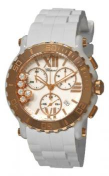 Chopard women's 288515-9001 Happy Sport Round Rose Gold Chronograph Watch