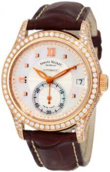 Armand Nicolet Women's 7155V-AN-P915MR8 M03 Classic Automatic Gold with Diamonds Watch
