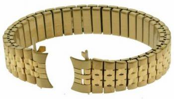 New Ladies 13MM Jubilee Style Gold Finish Watch Bracelet Band