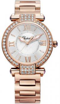 Chopard Imperiale Ladies Rose Gold Diamond Watch 384221-5004