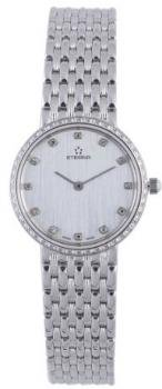 Eterna Watches Women's 5601.70.16.0000 Athena White Gold Diamond Silver Dial Watch