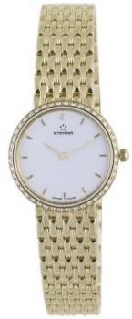 Eterna Watches Women's 5601.71.60.0000 Athena Yellow Gold White Dial Diamond Watch