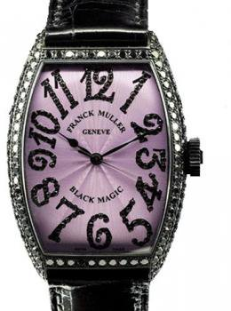 Franck Muller Women's Black Magic 5850 White Gold Black Diamonds Automatic Watch