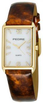Pedre Women's 6004GX Gold-Tone with Tortoise Patent Leather Strap Watch