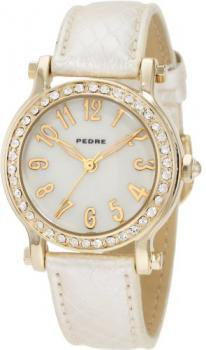 Pedre Women's 6682GX Gold-Tone with Light-Gold Strap Watch