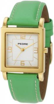 Pedre Women's 7954GX Gold-Tone with Lime Leather Strap Watch