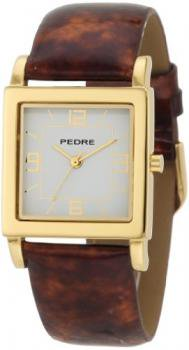 Pedre Women's 7954GX Gold-Tone with Tortoise Patent Leather Strap Watch