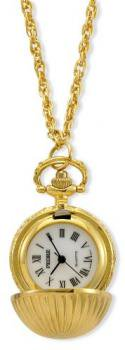 Pedre Women's Gold-Tone Fashion Ball Pendant Watch with 28 Neck Chain # 8440GX