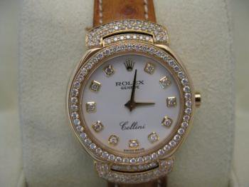 100% Authentic, Women's *ROLEX* Cellini 18K GOLD WATCH With DIAMONDS. Made in SWISS