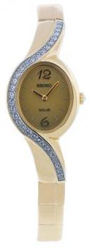 Seiko Women's SUP122 Stainless Steel Analog with Gold Dial Watch