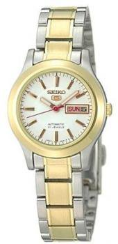 Seiko Women's SYM798 Two Tone Stainless Steel Analog with Gold Dial Watch