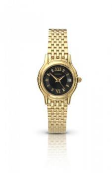 Sekonda Ladies Gold Plated Watch with Black Dial