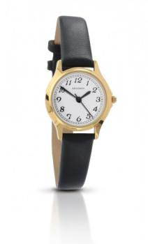Sekonda Ladies Gold Plated Watch with Black Strap