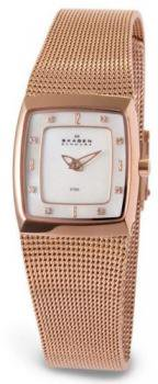 Women's Gold Tone Stainless Steel Quartz Mother Of Pearl Dial Mesh Band