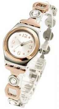 Swatch Women's Irony YSS234G Gold Stainless-Steel Quartz Watch with Silver Dial