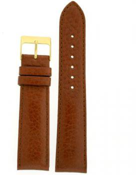 Watch Band Calfskin Leather Comfort Lite Padded Tan Gold-Tone Buckle Ladies 14 millimeters