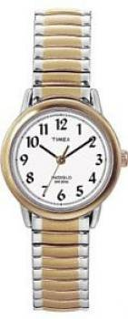 Timex Women's T20451 Gold Stainless-Steel Quartz Watch with White Dial