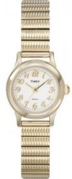 Timex Women's T2H691 Classic Gold-Tone Expansion Stainless Steel Bracelet Watch
