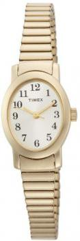 Timex Women's T2M568 Cavatina Gold-Tone Case Expansion Band Champagne Dial Watch